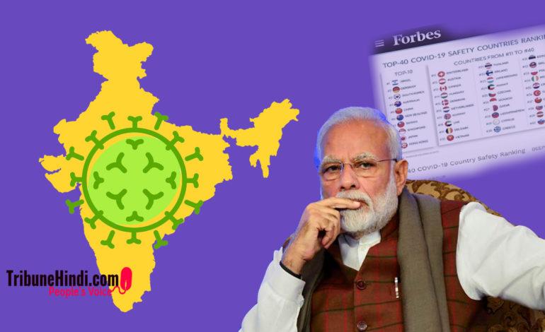 COVID19 के विरुद्ध अभियान में भारत की स्थिति