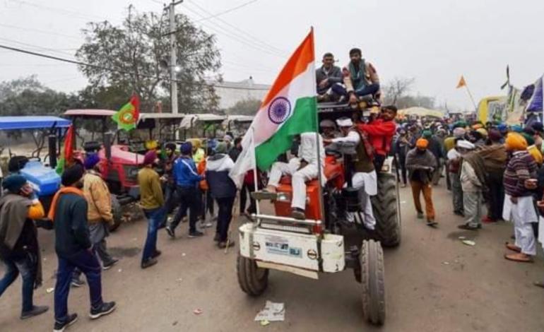 पूरी व्यवस्था के साथ दिल्ली की सीमाओं में कल से ही डंट गए थे किसान